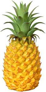 "Chnee 9"" Small Plastic Fake Pineapple Artificial Vegetables Fruits, Faux Decorate Fruit Ornament Realistic Artificial Pineapple Decor Prop Fruit for Home Kitchen Party Display"
