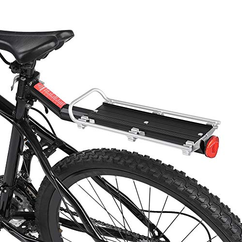 VGEBY Bicycle Touring Carrier, Aluminum Alloy Bicycle Luggage Carrier Cargo Rear Racks Bike Touring Carrier