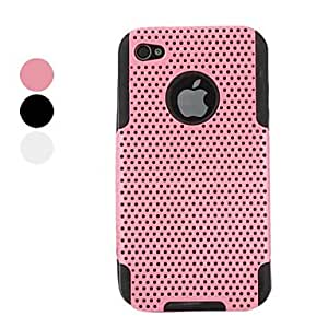 (CASEI)Hi-Q Hollow Out Style Protective Hard Case for iPhone 4 and 4S (Assorted Colors) , Pink