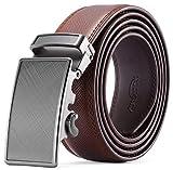 Men's Belt - Autolock Leather Ratchet Dress Belt for Men With Automatic Buckle
