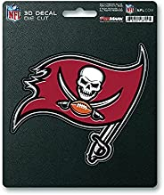 Fanmats NFL Tampa Bay Buccaneers 3-D Decal, Red, One Size