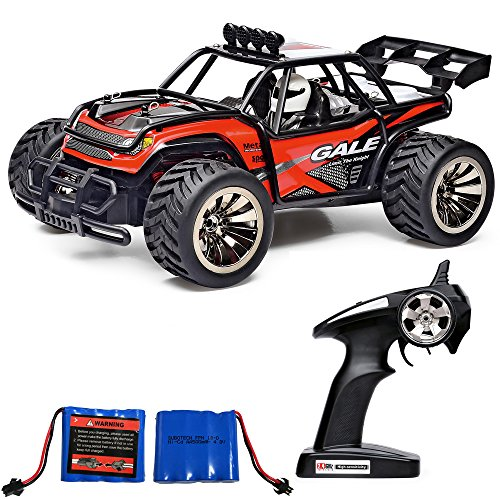 Heycargo 1:16 Scale High Speed Off Road Car,2WD 2.4Ghz Remote Control Hobby Grade Cross-Country Buggy, Electric Monster Racing Truck,Rock Climber Desert Buggy (Red)