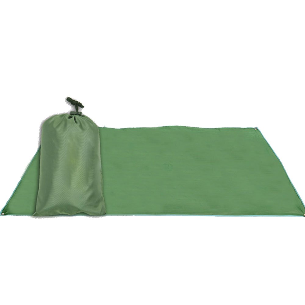 lecimo Folding Blanket Camping Outdoor Beach Festival Waterproof Backing Picnic Rug Mat Dark Green