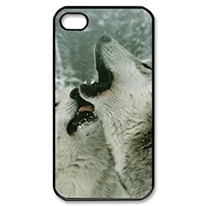 ALICASE Diy Customized hard Case Gray Wolf For Iphone 4/4s [Pattern-1] wangjiang maoyi