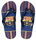 fc barcelona,bassket.com F.C Barcelone Flip Flop Sandals for Boys,4 Different Prints Available (13/1, Navy Stripes)