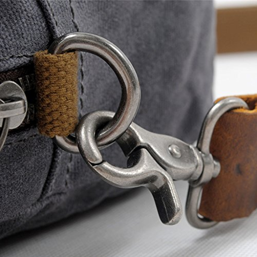 Shoulder PPGE Khaki Cross Women's Canvas Bag Bag Leather Body Satchel Crossover Messenger Bag Shoulder Bag Everyday rqrwvZxna