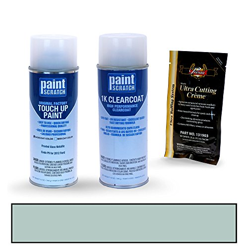 PAINTSCRATCH Frosted Glass Metallic P9 for 2012 Ford Escape - Touch Up Paint Spray Can Kit - Original Factory OEM Automotive Paint - Color Match Guaranteed