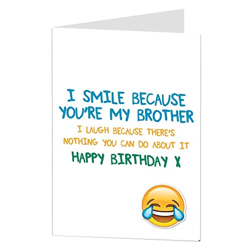 Funny Brother Birthday Card: Amazon.co.uk
