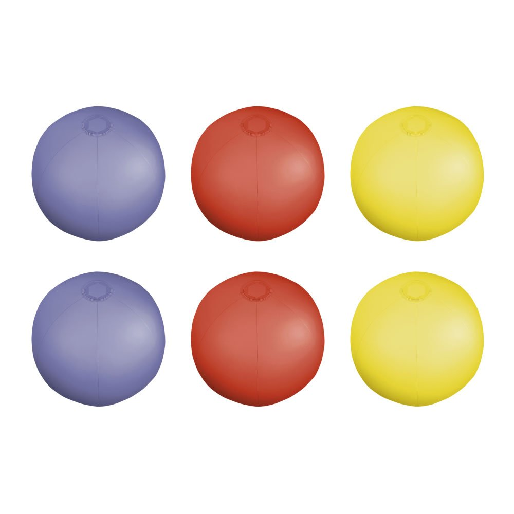 eBuyGB Pack of 6 Inflatable Color Beach Balls Toy for Kids - Water Pool Party Game Play Summer (Multicolor) by eBuyGB