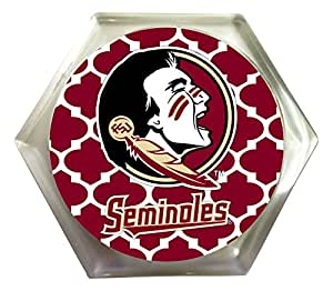 FLORIDA STATE SEMINOLES MOROCCAN DESIGN COASTER-SET OF 2-FLORIDA STATE FSU COASTERS 2 PACK