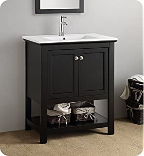 fresca fcb2305bl i manchester 30 black traditional bathroom vanity