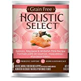Holistic Select Grain Free Salmon Can Dog Food, Large