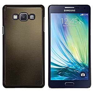 KLONGSHOP // Cubierta de piel con cierre a presión Shell trasero duro de goma Protección Caso - Marrón Azulejos - Samsung Galaxy A7 A7000 //