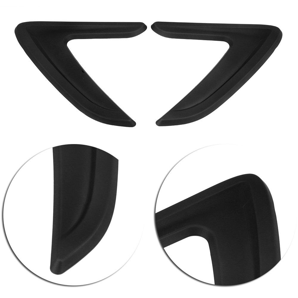 qiilu ql05086/Car Side Air Vent Cover Trim Mudguard default Black