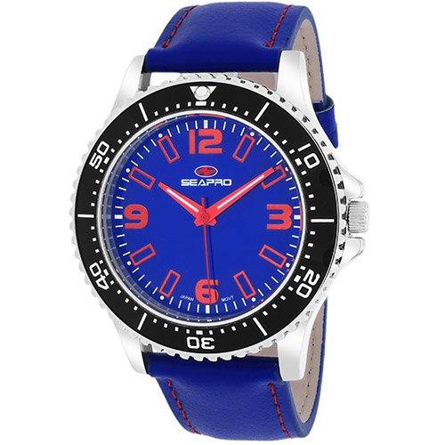 Seapro Men's SP5313 Analog Display Quartz Blue Watch