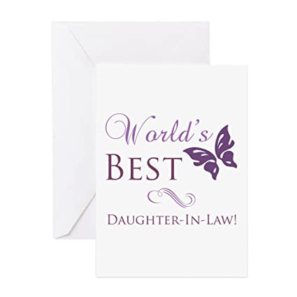 Amazon Cafepress Worlds Best Daughter In Law Greeting