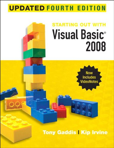 Starting Out With Visual Basic 2008 Update, 4/e Pdf
