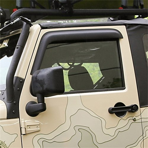 Jeep Window Deflectors - Rugged Ridge 11349.11 Matte Black Window Visor