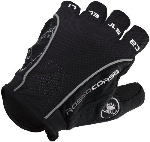 Castelli Rosso Corsa Glove Black/Black, XS