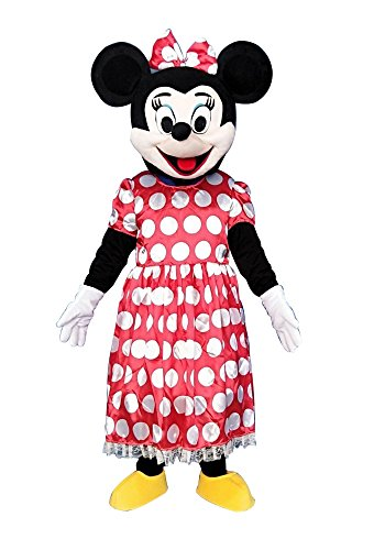 Minnie Mouse Adult Mascot Costume Fancy Dress Cosplay Outfit ()