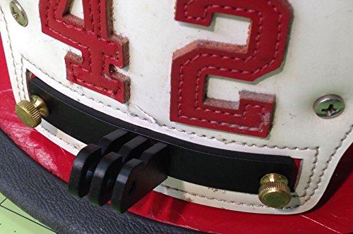 Quickfire Firefighting Helmet Mount For Gopro Style Cameras Black
