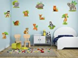 cik9 Full Color Wall decal africa animal elephant giraffe hippo lion monkey children's room