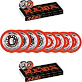 Labeda Wheels 80mm /76mm Hilo Gripper Red X-Soft Inline Hockey 76A Bones Reds