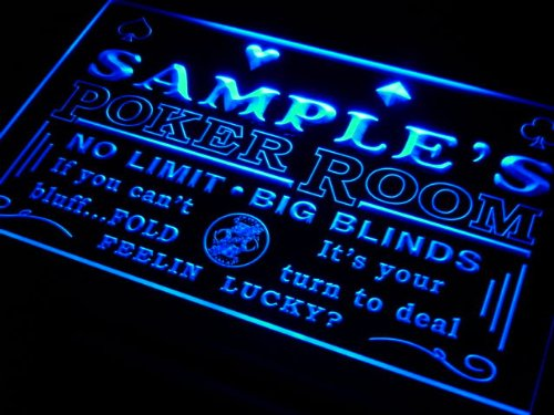 pd1564-b Christian's Man Cave Poker Room Bar Neon Sign