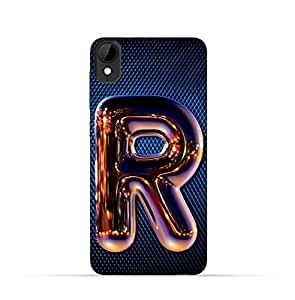 HTC Desire 825 TPU Silicone Case with Chrome Night Letter R Design
