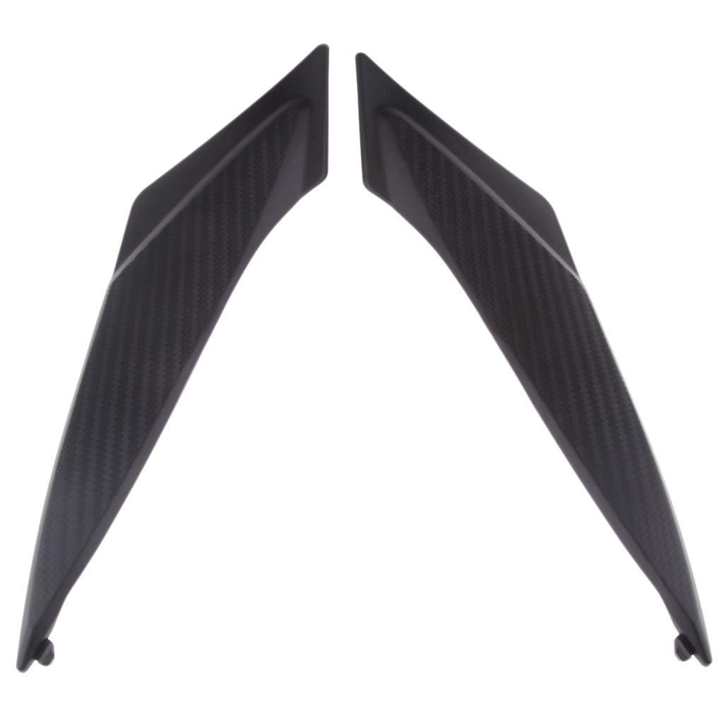 perfk 2x Black Plastic Gas Tank Side Cover Panel for Suzuki GSXR 600//750 2011 2012 2013 2014