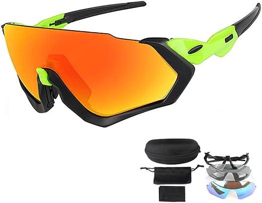 KEZHIWEI - Gafas de Sol polarizadas para Ciclismo con 3 Lentes ...