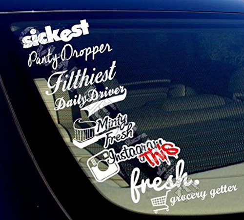 JDM Sticker Pack/lot of 8 - Grocery Getter, Panty Dropper, Daily Driver +