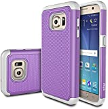 Galaxy S7 Case, E LV Samsung Galaxy S7- Full Body Hybrid Armor Protection Defender Case Cover - Dual Layer Armor Protective Case Cover for Samsung Galaxy S7 - [PURPLE/GREY]