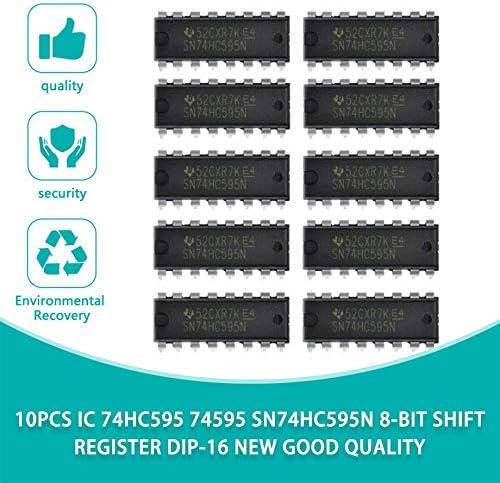 10PCS NEW TI SN74HC595N 74HC595 DIP-16 8 Bit Shift Register