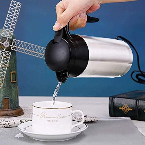 Autonoleggio Riscaldamento Cup, in Acciaio Inox Bollitore Elettrico per Auto con Accendisigari, Viaggi Coppa Riscaldamento per Acqua Calda, caffè, tè