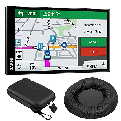 Garmin 010-01681-02 DriveSmart 61 NA LMT-S GPS w/Smart Features Dash-Mount Bundle - (Renewed) (Garmin Live Traffic)