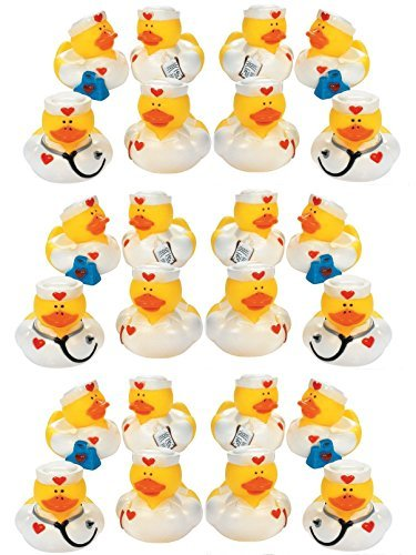 Lot Of 24 Nurse ~ Rubber Ducks ~ Ducky Party Favors / Scrubs Doctors