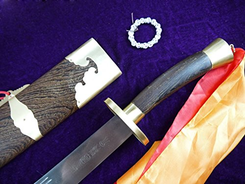 Chinese Sword/Single Broadsword/Medium Carbon Steel/Rosewood Scabbard/Copper Fittings/Length 38""