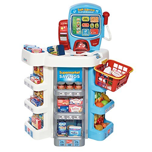 lf Service Electronic Checkout Supermarket Shopping Pretend Play Toy - Age 3+ Years by Charles Bentley ()