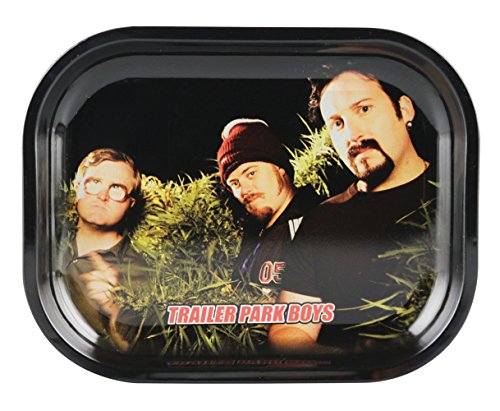Famous Brands Trailer Park Boys Rolling Tray - Clippings/Assorted Sizes (Large)