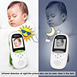 FITNATE Portable Video Baby Monitor with LCD Display, Digital Camera, Infrared Night Vision, Two Way Talk Back, Temperature Monitoring, Lullabies, Long Range and High Capacity Battery,Green
