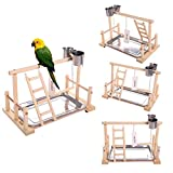 QBLEEV Bird's Stand Playground Climb Wooden Perches (Bird Stand(14.4 L 9 W9.7 H)) Larger Image