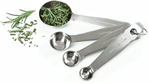 Norpro 4-Piece Stainless Steel Measuring Spoons, Silver