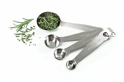 Norpro 4-Piece Stainless Steel Measuring Spoons Coffee, Tea & Espresso at amazon