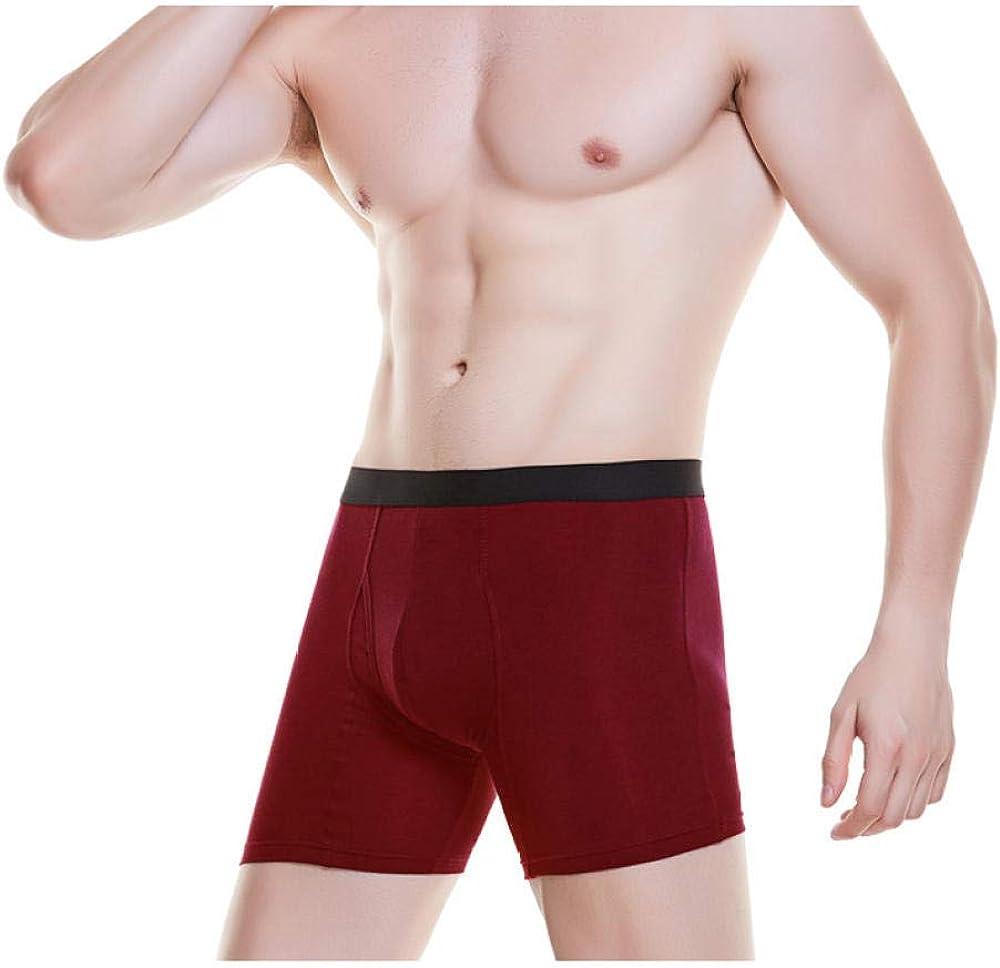 kliy Boxers 4Pcs Cotton Men Boxer Weiche Atmungsaktive Unterw/äsche M/ännlich Bequem Stely B.
