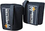 Meister Elastic Support Lifting Wrist Wraps w/Thumb Loop (Pair)