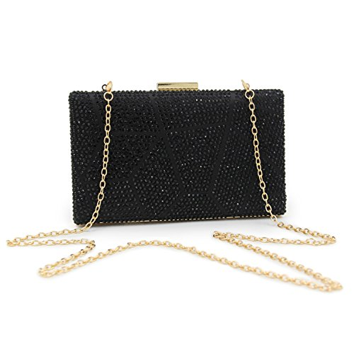 Wedding Crystal Female Women Short Chains Bag With Long TuTu Ladies blue Two Bags Evening and Clutch Party Side Purse Clutch vPxwxqtTd1