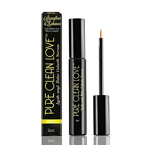 Eyelash Growth Serum, Eyebrow Growth Treatment Enhancer - Advanced Formula Pentapeptide 17 - Boosts Regrowth, Grows Long Fuller Thicker Lashes Brows - Prevents Breakage Fall Out - FDA Approved (3ml) (Full Formula Treatment)