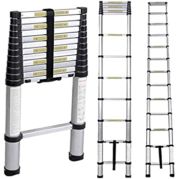 Sogeshome 12 5ft Telescoping Ladder Aluminum Telescopic