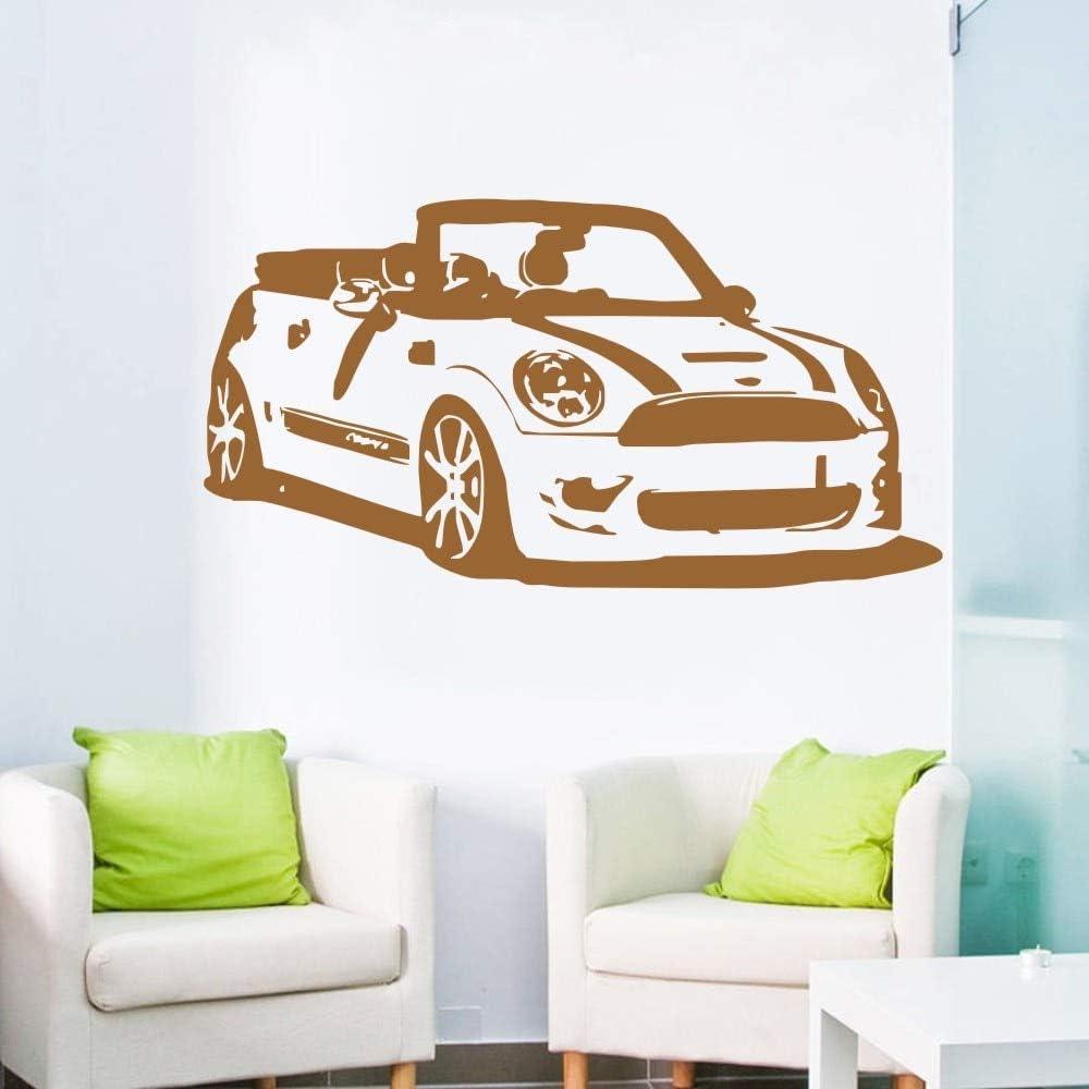 fancjj Removable Mini Cooper Convertible Car Living Room Vinyl Wall Stickers Mural Vinilos Decoration Vintage Car Wallpaper